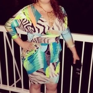 Multicolor Dress Size 1X